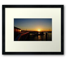 Sunset From The Wharf Framed Print
