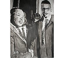 Malcolm X and Dr King Photographic Print