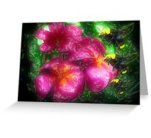 Three Bees of Flowers, Please Greeting Card