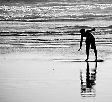 Skimboarder Shadow by SylvainSylvain