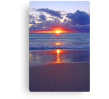 Sunset At Point Peron  Canvas Print