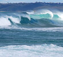 Surf Thunder - Newcastle Beach NSW by Bev Woodman