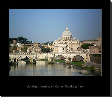 """Sunday morning in Rome"" by Mui-Ling Teh"