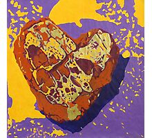 Kintsugi Golden Heart Photographic Print
