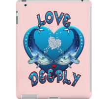 Love Deeply (with pink background) iPad Case/Skin