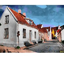 Houses in Visby Photographic Print