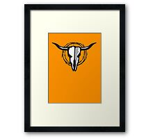 Cow Skull with Barbed Wire Framed Print