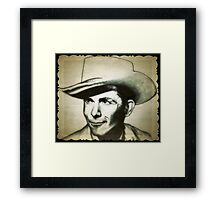 Hank Williams drawing Framed Print