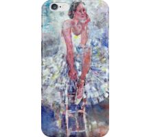 Ballet Dancer on the Stool iPhone Case/Skin