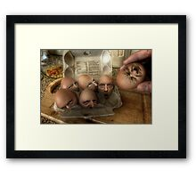 Eggsecution - The Prequel Framed Print