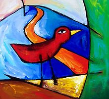 SOULBIRD  LISTENS  TO  THE  WIND by ART PRINTS ONLINE         by artist SARA  CATENA