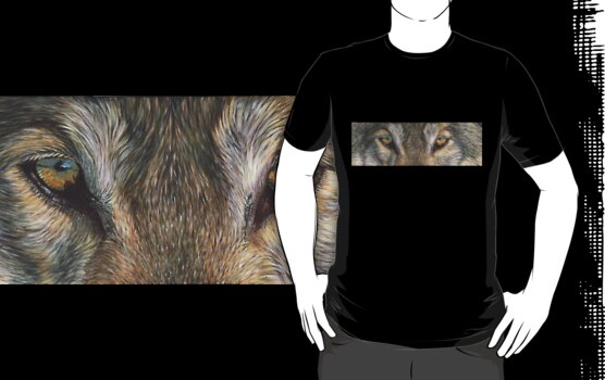 Wolf Eyes (2) T-shirt by artbyakiko