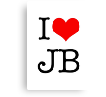 I Love JB Canvas Print