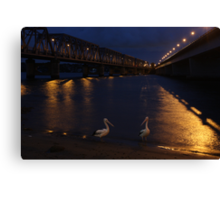 Bridge over moony waters Canvas Print