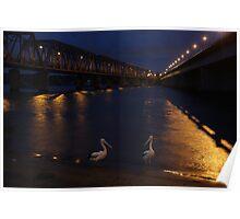Bridge over moony waters Poster