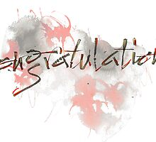 Congratulations greeting card by Cards by Andrea Kos