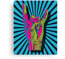THROW UP THOSE HEAVY METAL HORNS Canvas Print
