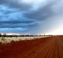 Sunset  desert tracks  by KimOZ