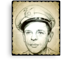 Don Knotts, Barney Fife drawing Canvas Print
