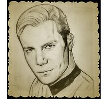 Captain Kirk, William Shatner drawing Photographic Print