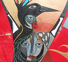Crow He and Crow She by arteology
