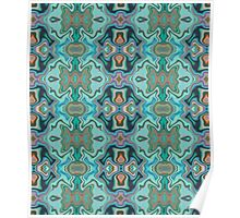 Turquoise marble Poster