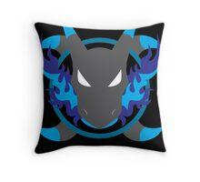 Mega Charizard X Icon Throw Pillow