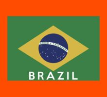 flag of brazil Kids Clothes