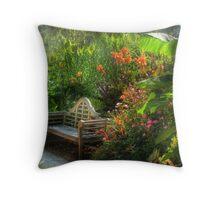 Come visit the Tropics Throw Pillow