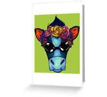 Cool cow Greeting Card