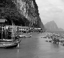Muslim Fishing Village - Thailand by carlacarlacarla