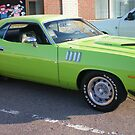 LIME GREEN Cuda! by kodakcameragirl