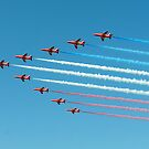 Red Arrows in Saudi Arabia 02 by Graham Taylor