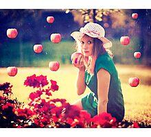 Apples rain Photographic Print