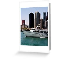 Chicago boat tour Greeting Card