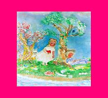 My Valentine Pink Whimsical Designer Art by innocentorigina