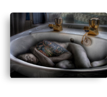 The sink bath Canvas Print