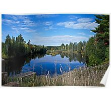 Late Summer on the Escanaba River Poster