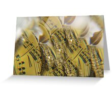 lips of Golden  Music Greeting Card