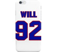 National football player Will Cokeley jersey 92 iPhone Case/Skin