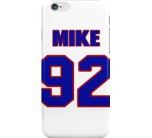 National football player Mike Labinjo jersey 92 iPhone Case/Skin