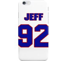 National football player Jeff Leiding jersey 92 iPhone Case/Skin