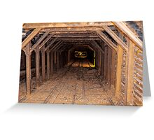 entry for miners, exit for gold ore Greeting Card