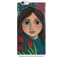Girl with Tulips iPhone Case/Skin