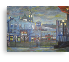 When Night falls / On The Beautiful City Streets           ( My Paintings )  Canvas Print