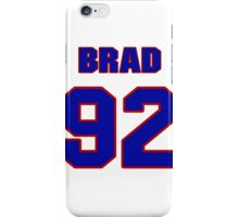 National football player Brad White jersey 92 iPhone Case/Skin