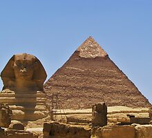 Pyramid And Sphinx by Malcolm Snook