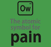 Atomic Symbol for Pain Kids Clothes