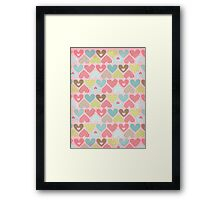 Hearts - Craft Design  Framed Print