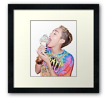 Miley Cyrus ♥ Ice Cream Framed Print